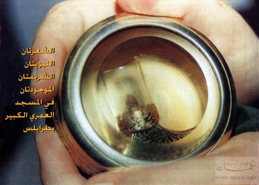 الشعرتين الشريفتين الموجودتين في المسجد