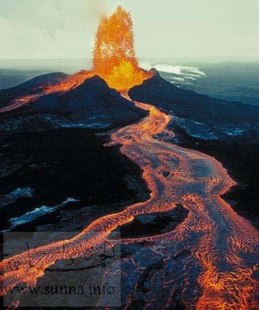 البراكين - نشاطات البراكين - تكوينات البركان